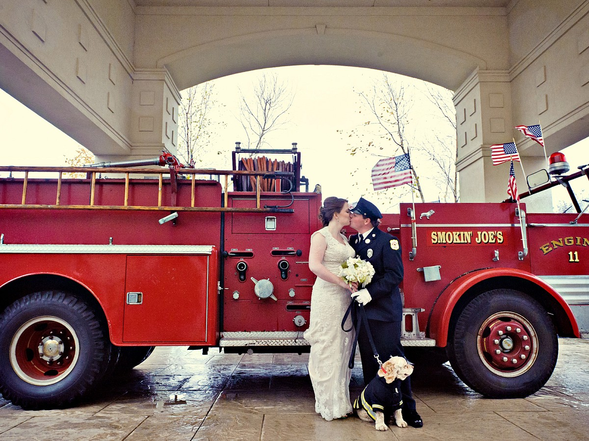 Wedding-Firefighter-Windy-Kiss-with-dog-Bridal-Portrait.jpg
